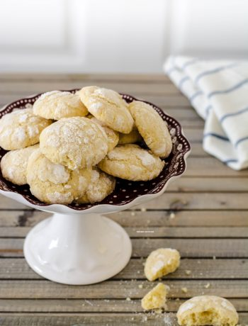biscotti al limone, lemon crinkles