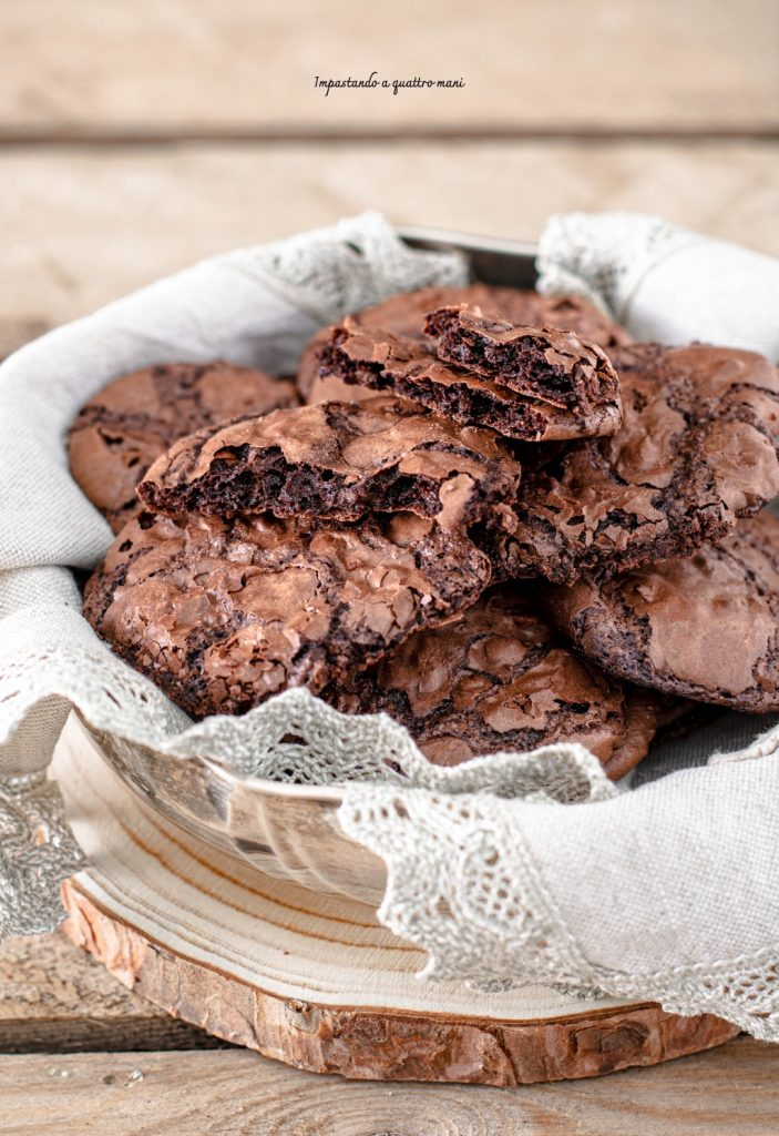 cookies meringati al cioccolato