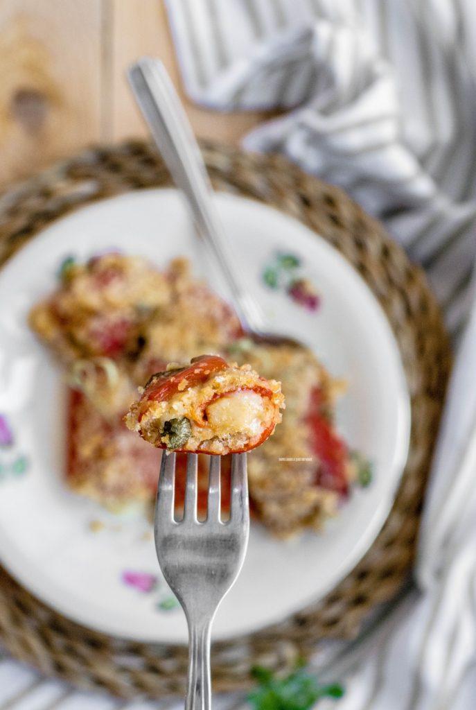 involtini di peperoni gratinati al forno