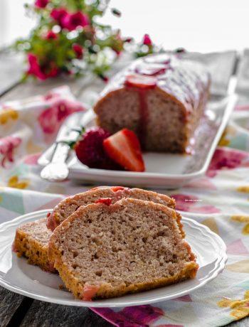 plumcake con fragole frullate