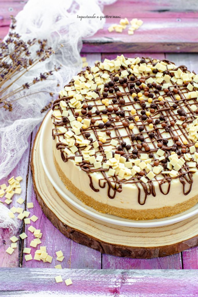 cheesecake al cioccolato bianco senza cottura