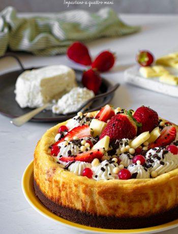 cheesecake alla ricotta cotta in forno