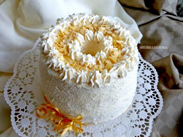 fluffosa raffaello chiffon cake gusto cocco