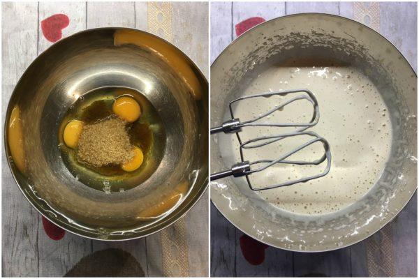 preparazione dei cupcake alla zucca con noci e frosting al mascarpone, idea per halloween