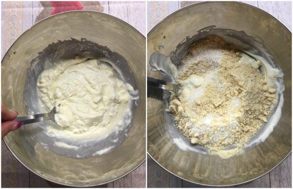 preparazione fluffosa raffaello chiffon cake