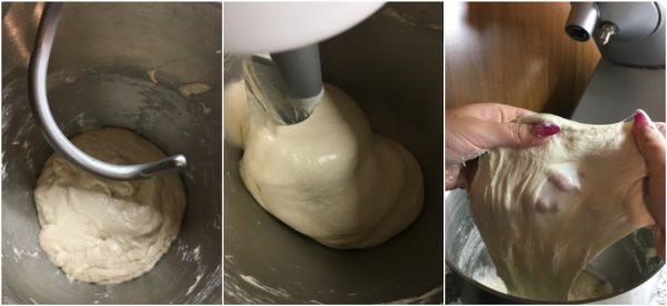 preparazione pane ciabatta a lievitazione naturale