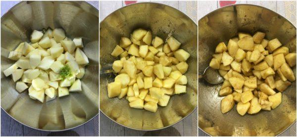 preparazione apple pie, torta di mele americana