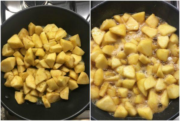 preparazione apple pie, torta americana di mele