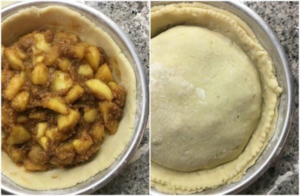 preparazione apple pie, torta di nonna papera americana