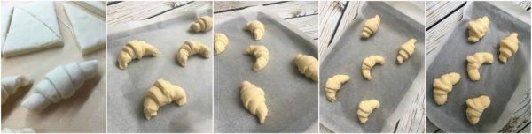 preparazione croissant sfogliati francesi, lievitazione cornetti