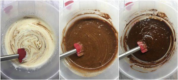 preparazione nutella brownies cheesecake
