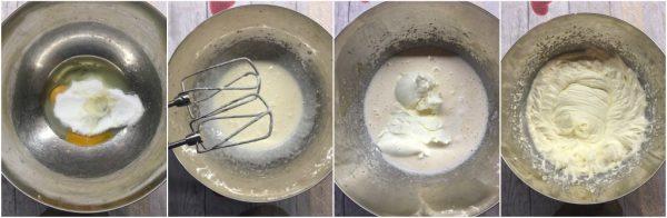 preparazione nutella brownies cheesecake con mascarpone
