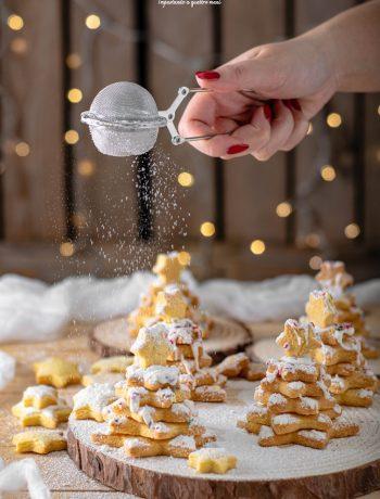 alberelli di pasta frolla natalizi