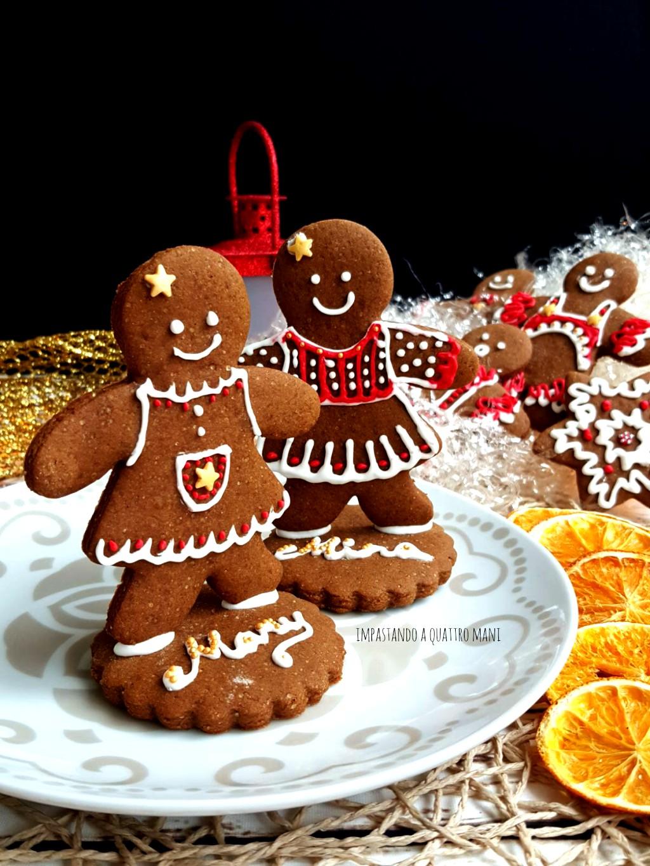 Segnaposto Natalizi Biscotti.Biscotti Pa Di Zenzero Omini Segnaposto Natale Impastando A