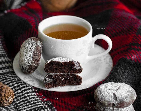 chocolate crinkles, biscotti al cioccolato screpolati