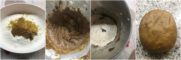 preparazione omini pan di zenzero, biscotti, natale