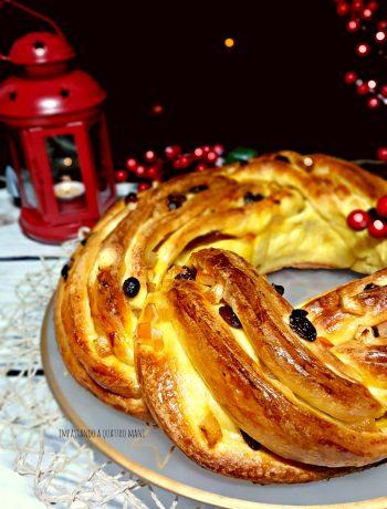 torta angelica a lievitazione naturale con uvetta e canditi