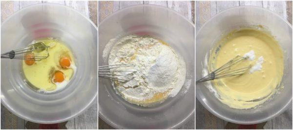 preparazione muffin salati al pesto di basilico e pomodori secchi