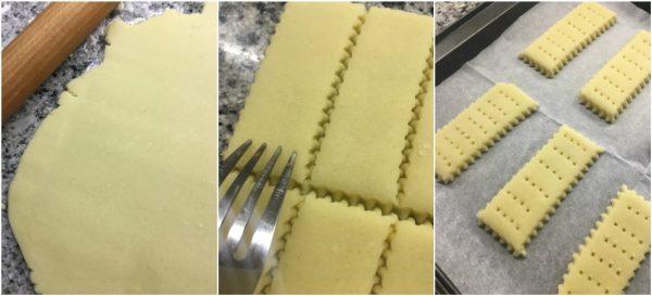 preparazione degli shortbread, biscotti al burro scozzesi