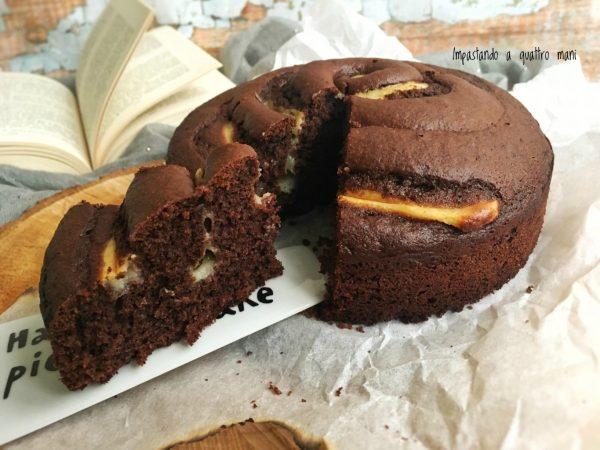 torta girella con cacao e crema pasticcera