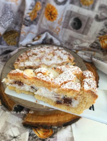 crostata con crema di ricotta e cioccolato