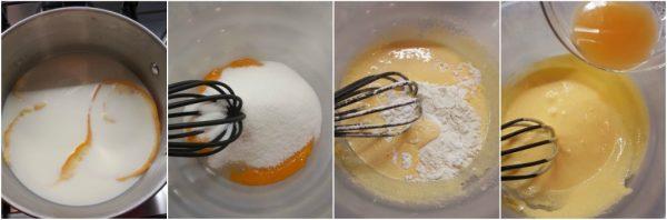 preparazione crema all'arancia per torte e crostate