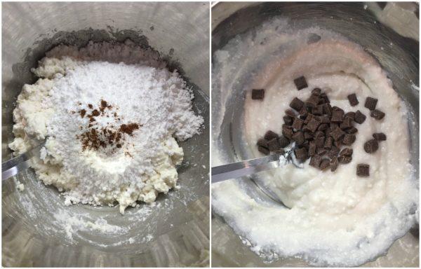 preparazione crostata con ricotta e cioccolato