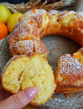 torta di mele al profumo di arancia sofficissima