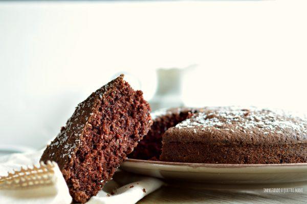torta matta con cocco e cacao, ricetta vegana