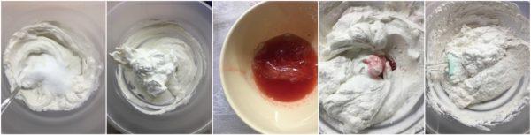 preparazione cheesecake fredda alle fragole, con yogurt