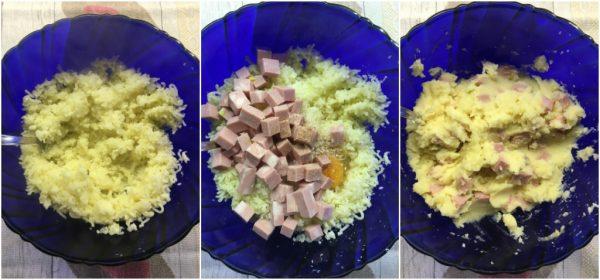preparazione involtini di verza con patate e mortadella