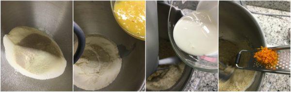 preparazione pan brioche bicolore