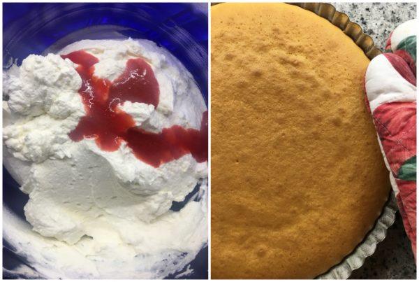 preparazione crostata morbida con camy cream alle fragole