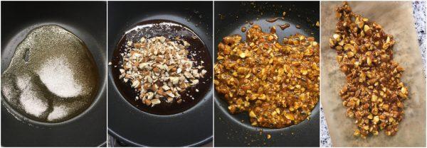 preparazione pralinato alle mandorle