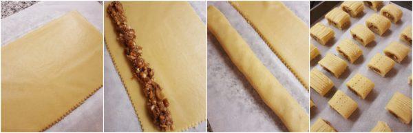 preparazione biscotti fichi freschi e frutta secca