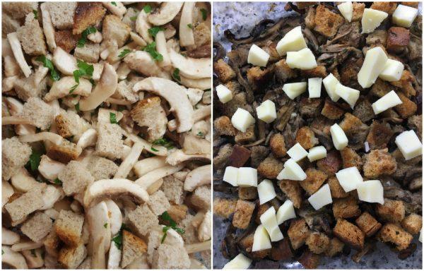 preparazione funghi gratinati