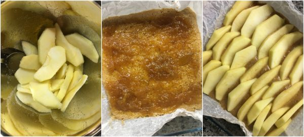 preparazione torta integrale alle mele e confettura