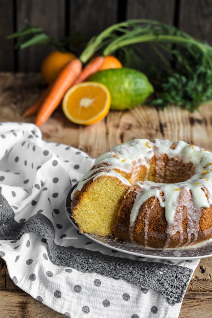 torta gusto ace, arancia, carota e limone
