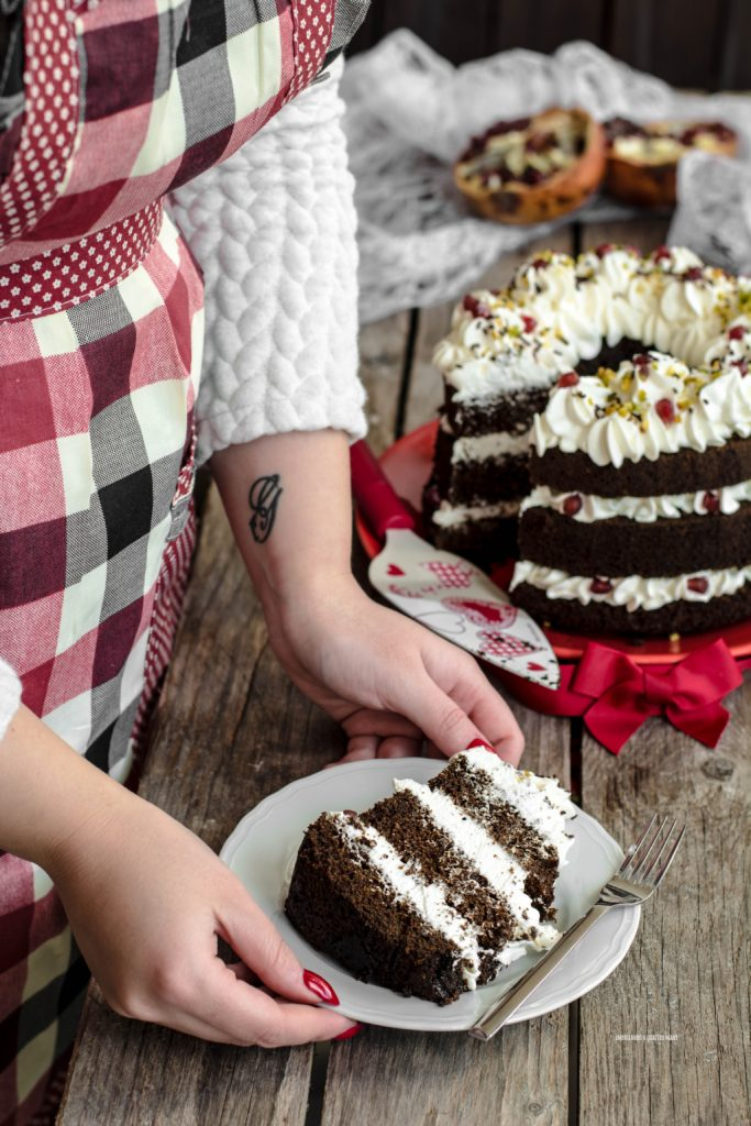 fluffosa al tè matcha con crema al mascarpone, chiffon cake