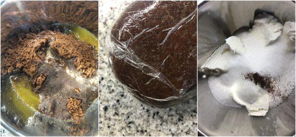 preparazione tronchetto di natale innevato senza cottura con ricotta