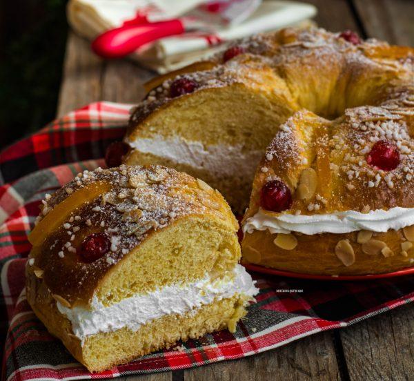 roscon de reyes, dolce spagnolo natalizio, torta dei re