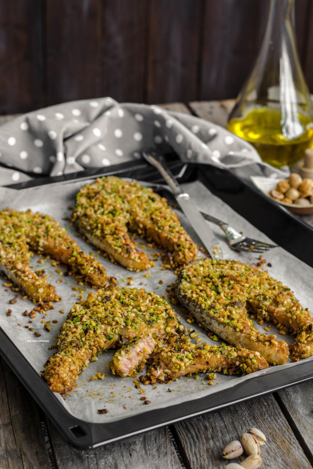 Ricetta Salmone Con Pistacchi.Salmone In Crosta Impastando A Quattro Mani