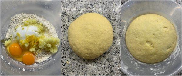 preparazione chifelini di carnevale