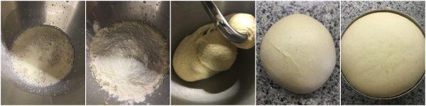 preparazione panini soffici al latte