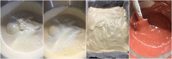 preparazione rotolo red velvet con cuori, crema al cioccolato bianco, idea per san valentino