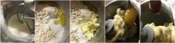 preparazione pan bauletto dolce con arancia candita e cioccolato bianco, con lievito madre