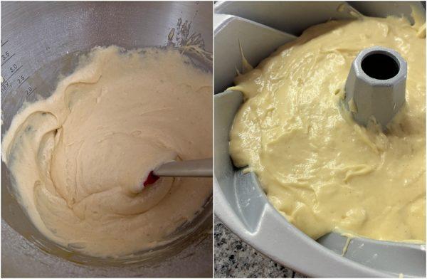 preparazione ciambella al latte condensato