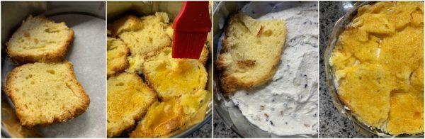 preparazione torta di colomba a strati con crema di ricotta e ganache al cioccolato, ricetta di Pasqua