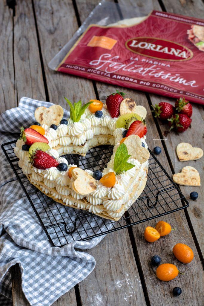 cream tart di piadine con camy cream e frutta fresca