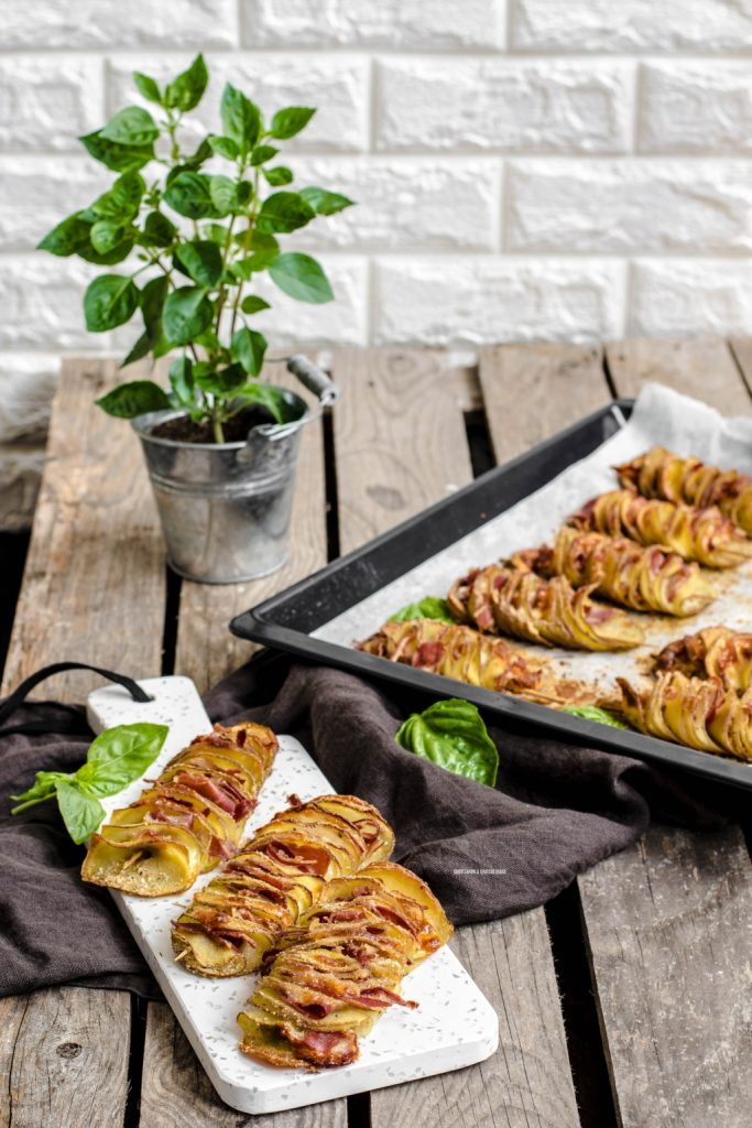 patate a spirale con pancetta